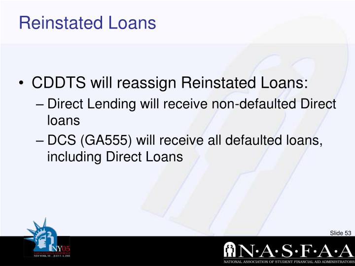 Reinstated Loans