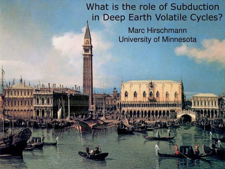What is the role of Subduction