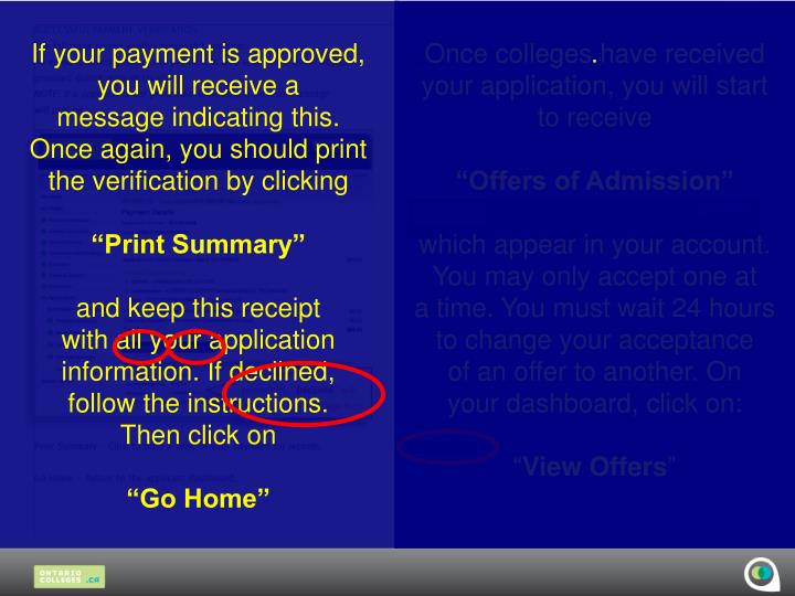 If your payment is approved,