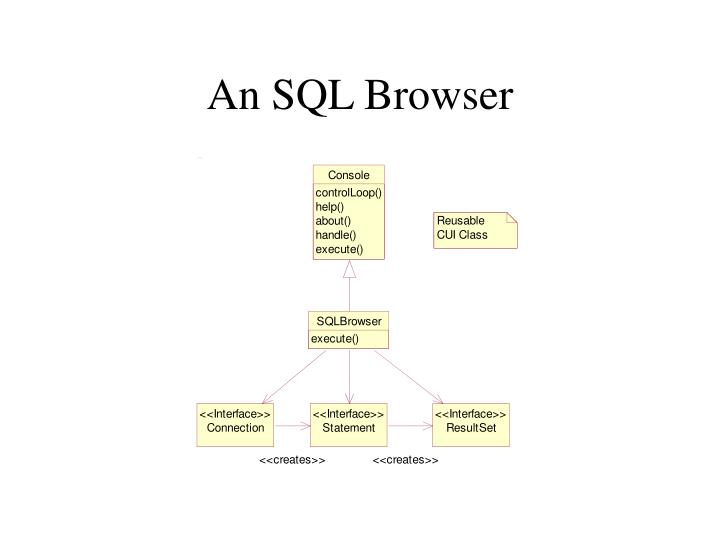 An SQL Browser