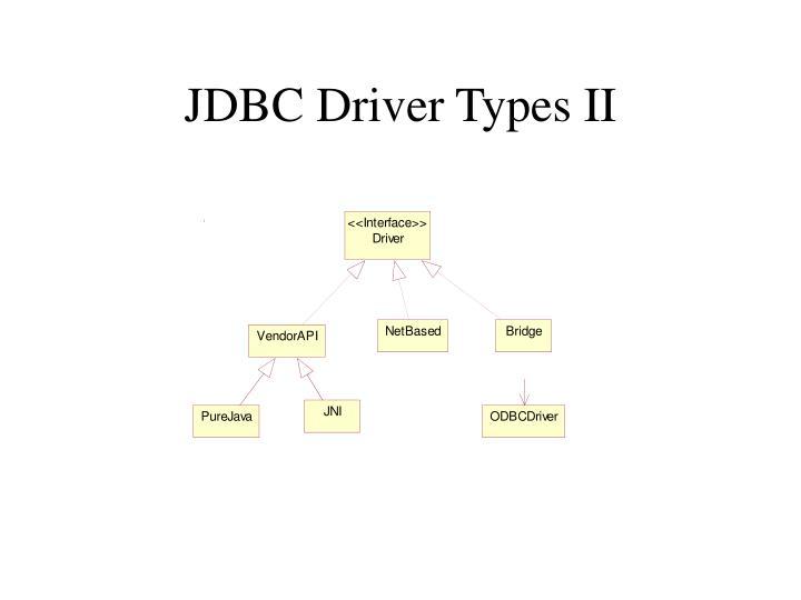 JDBC Driver Types II