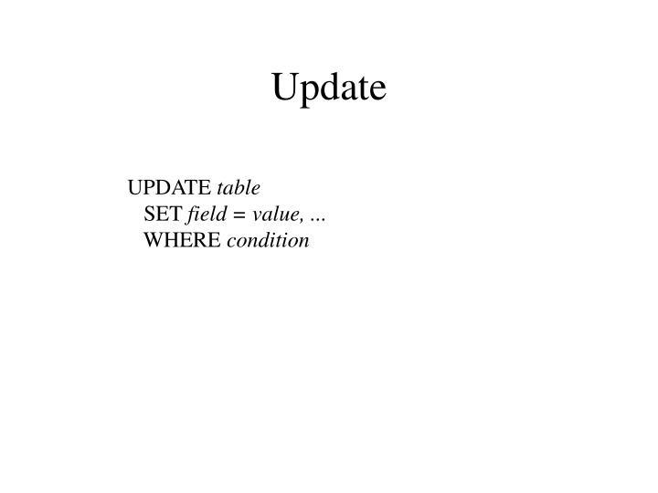 Update