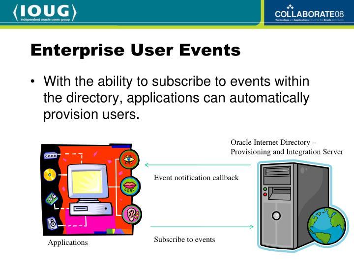 Enterprise User Events