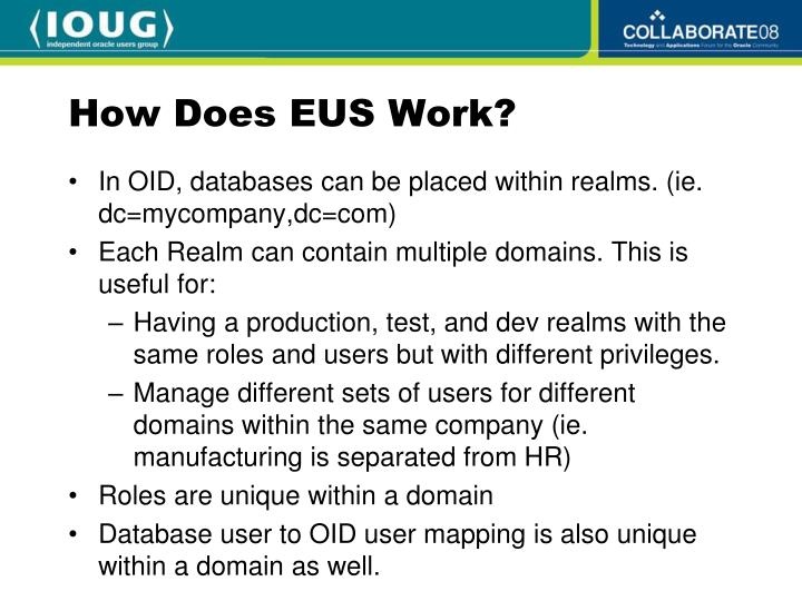 How Does EUS Work?