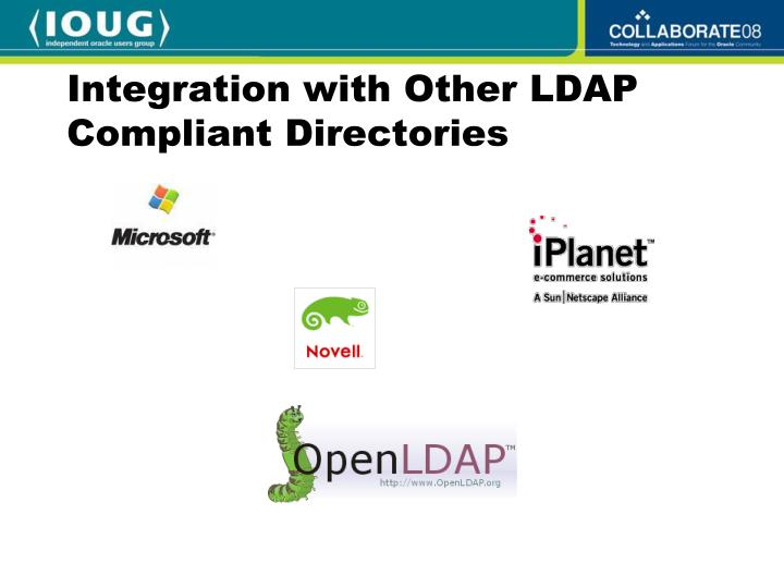 Integration with Other LDAP Compliant Directories