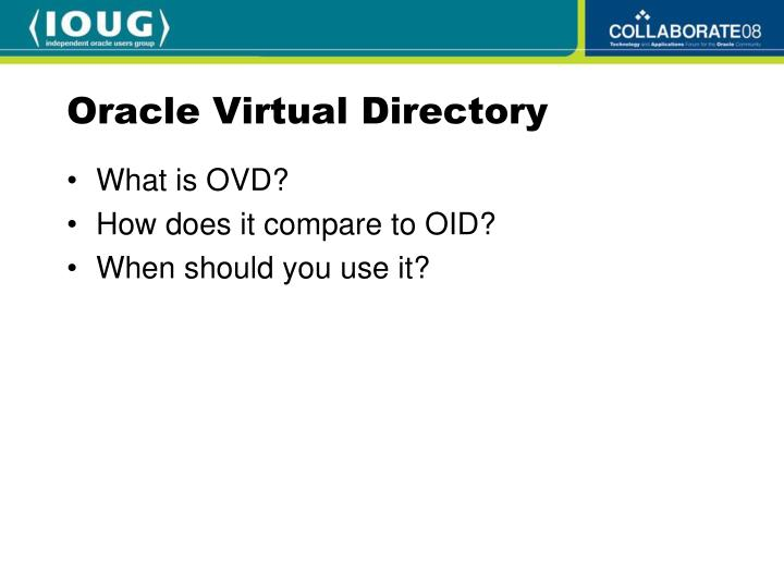 Oracle Virtual Directory