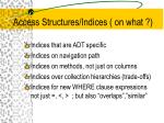 access structures indices on what