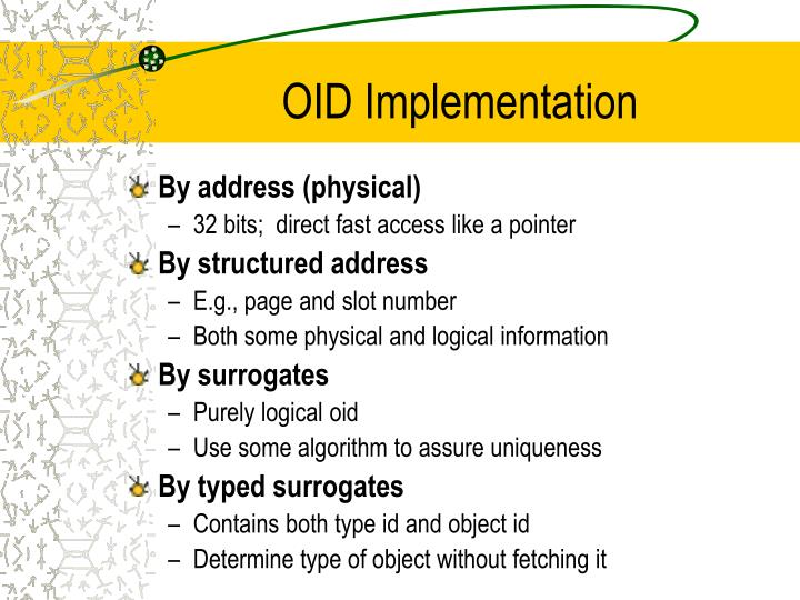 OID Implementation