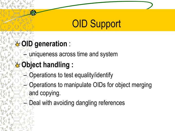 OID Support
