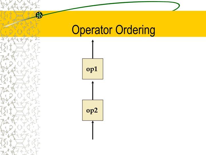 Operator Ordering
