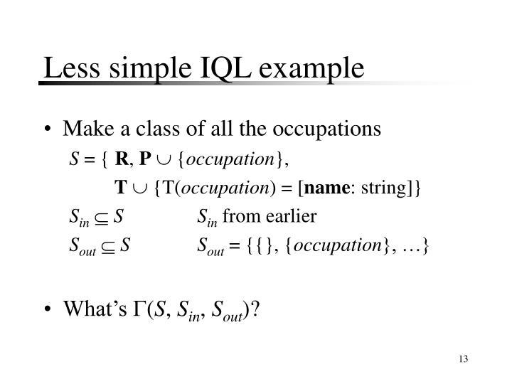 Less simple IQL example