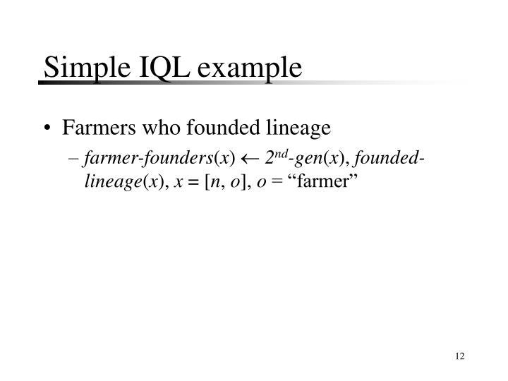 Simple IQL example