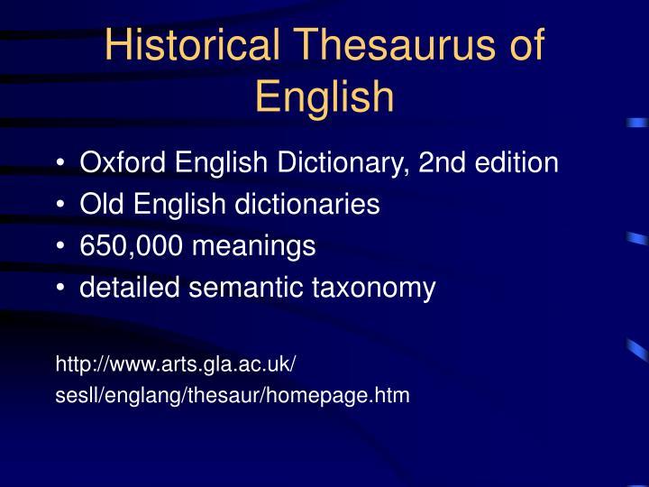 Historical Thesaurus of English
