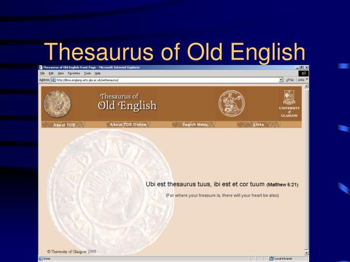 Thesaurus of Old English
