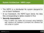 system architecture hdfs layer