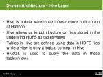 system architecture hive layer