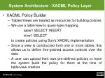 system architecture xacml policy layer
