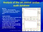 analysis of the uk central cardiac audit database