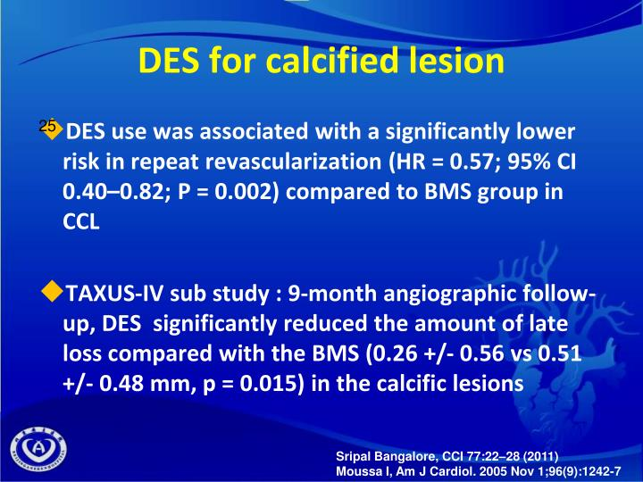 DES for calcified lesion