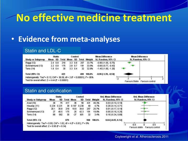 No effective medicine treatment