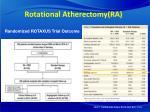 rotational atherectomy ra
