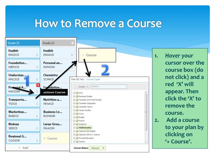 How to Remove a Course