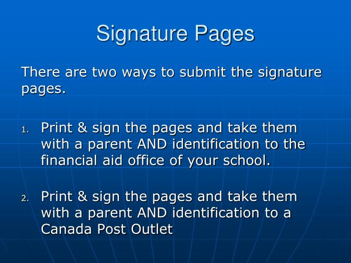 Signature Pages