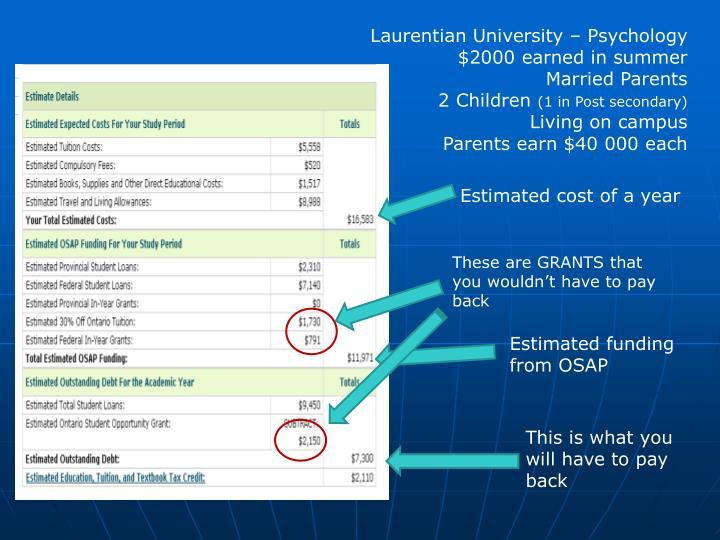 Laurentian University – Psychology