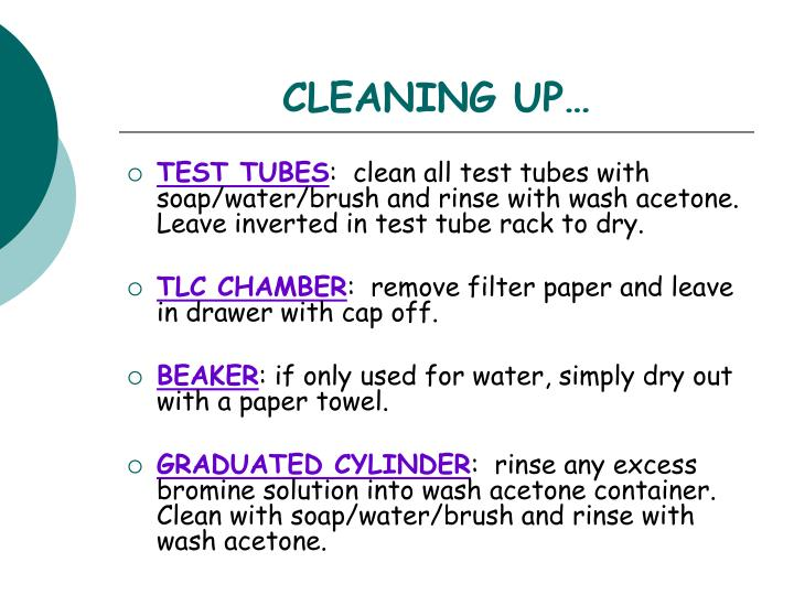 CLEANING UP…