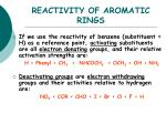 reactivity of aromatic rings1
