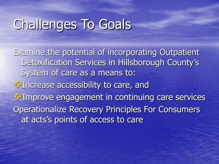 Challenges To Goals