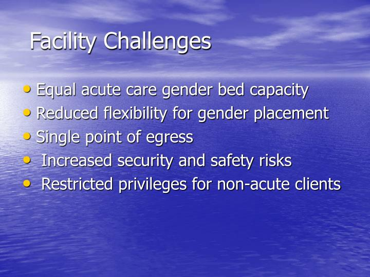 Facility Challenges