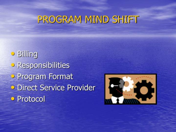 PROGRAM MIND SHIFT