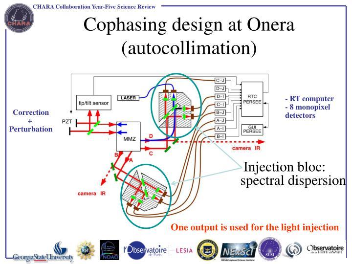 Cophasing design at Onera