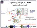 cophasing design at onera autocollimation