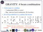 gravity 4 beam combination
