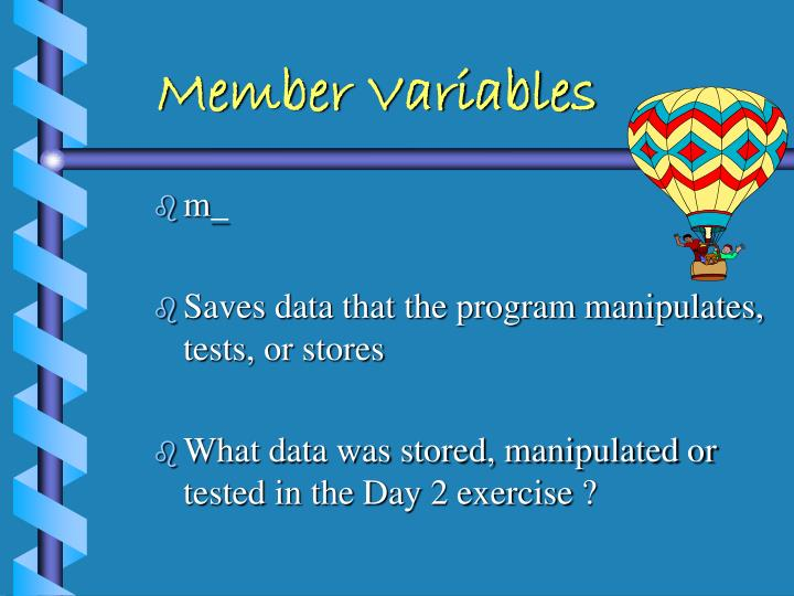 Member Variables