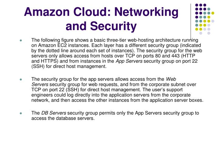 Amazon Cloud: Networking and Security