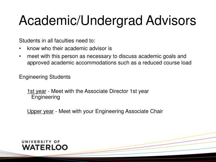Academic/Undergrad Advisors
