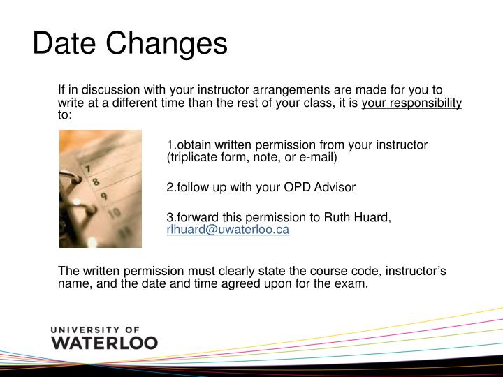 Date Changes