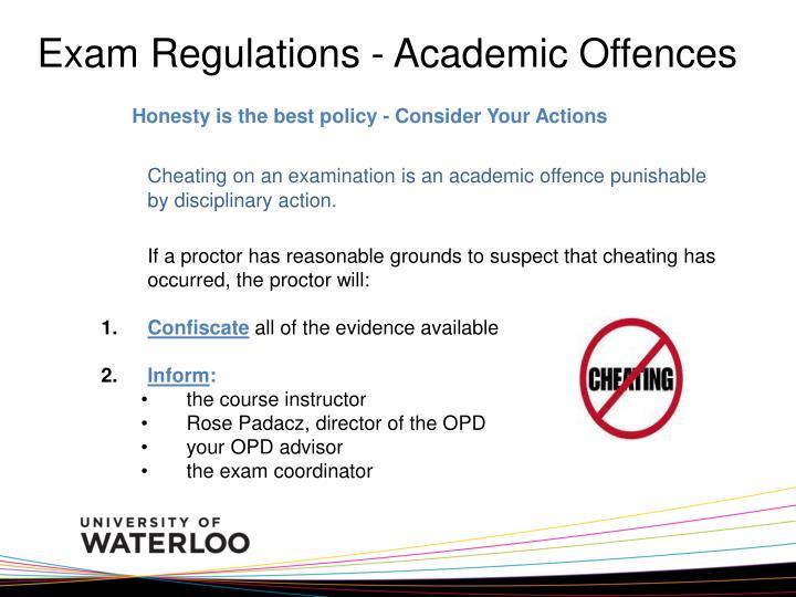 Exam Regulations - Academic Offences