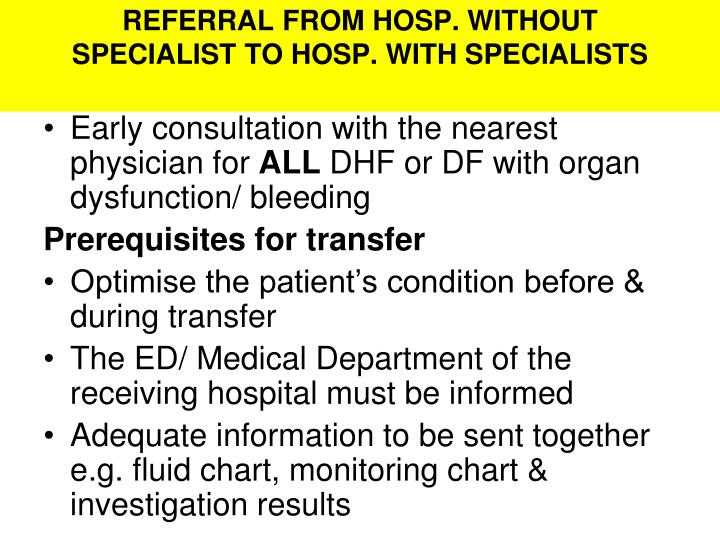REFERRAL FROM HOSP. WITHOUT