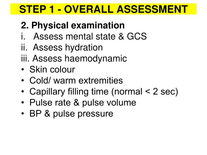 2. Physical examination