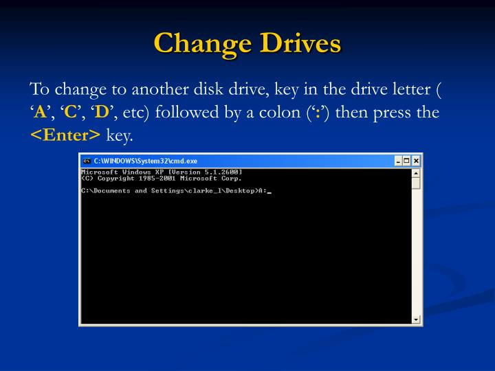 Change Drives