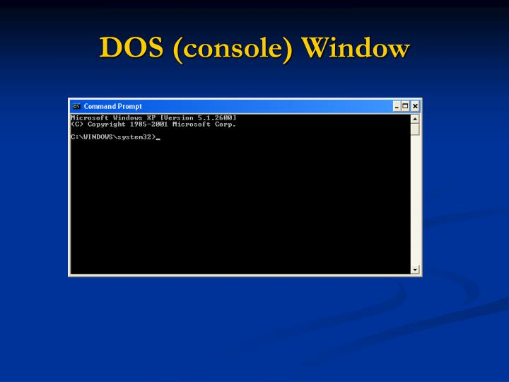 DOS (console) Window