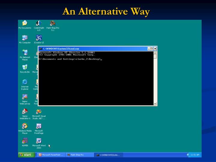 An Alternative Way
