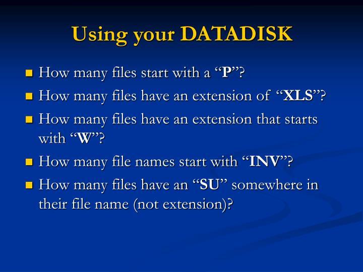 Using your DATADISK