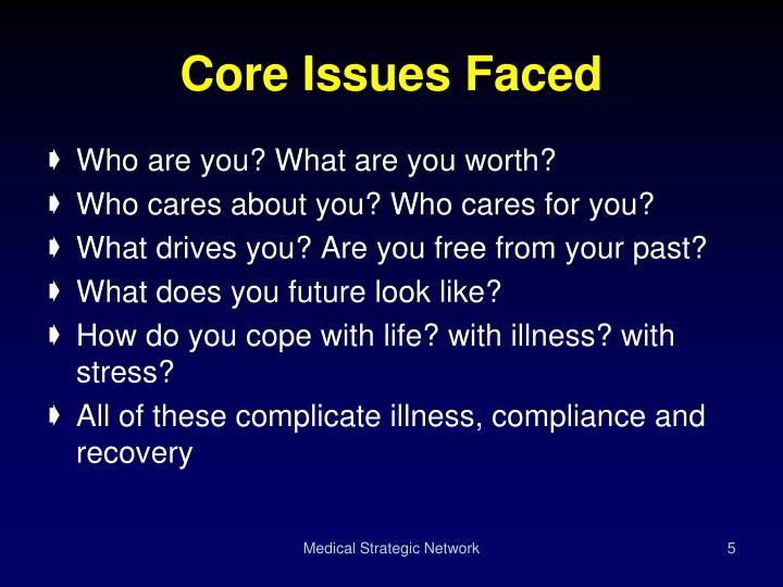 Core Issues Faced