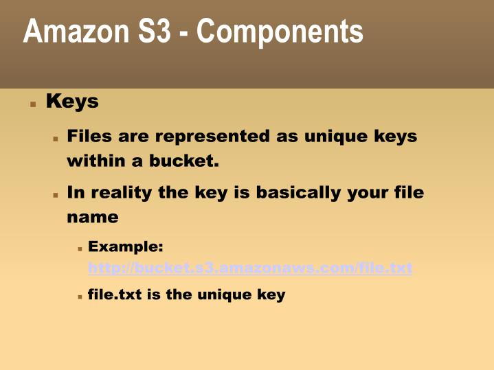 Amazon S3 - Components