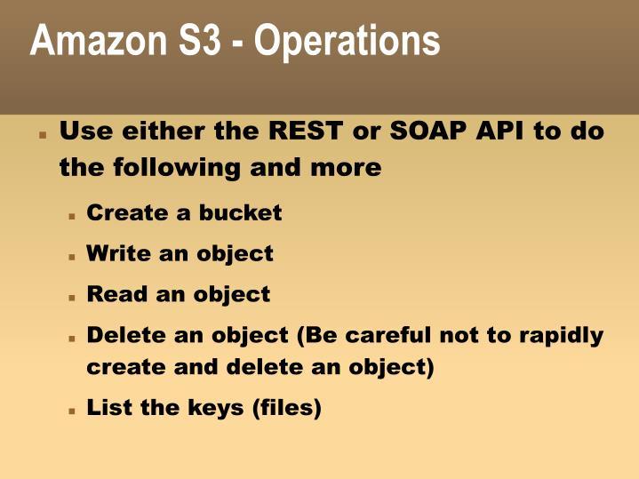 Amazon S3 - Operations